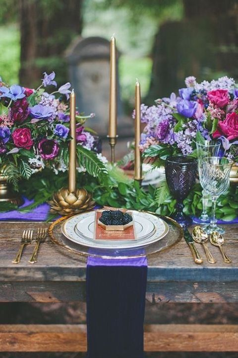 Happy Wed - 30 Jewel Tone Wedding Ideas
