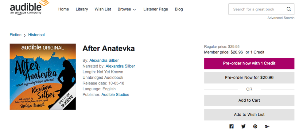 After Anatevka - read by the author