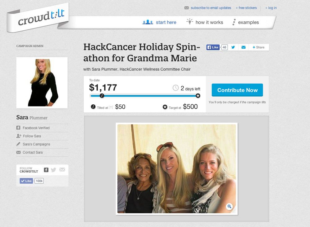 Sara Plummer's HackCancer Spin-a-thon