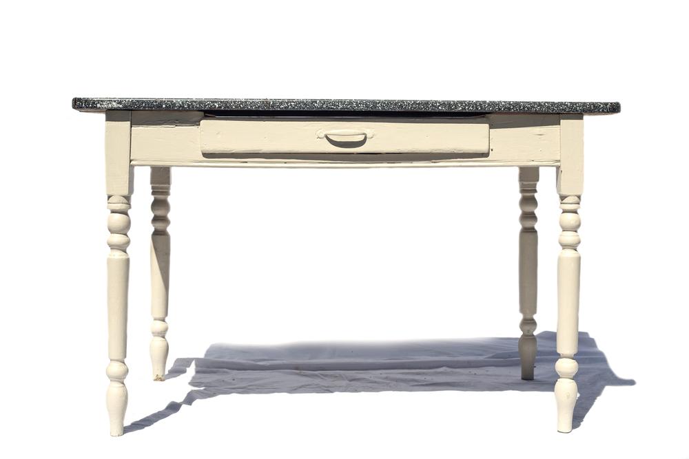 Porcelian Top Table