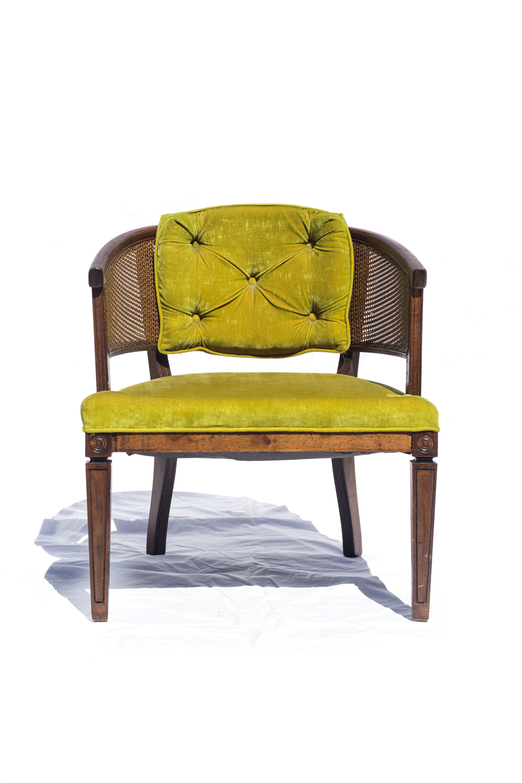Lime Green Barrel Back Chair