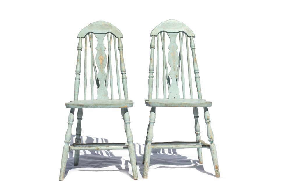 Mint Wood Chairs