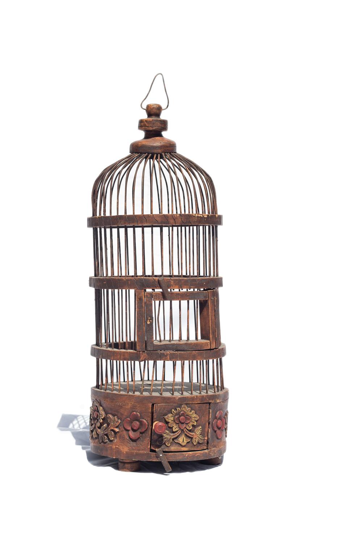 Brown Bird Cage