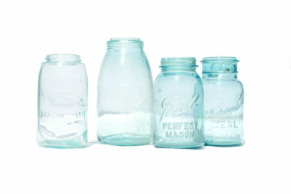 Blue Mason Jars