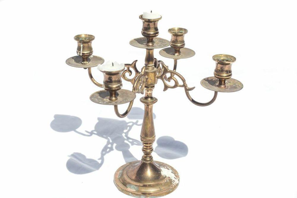 Brass Candleabra