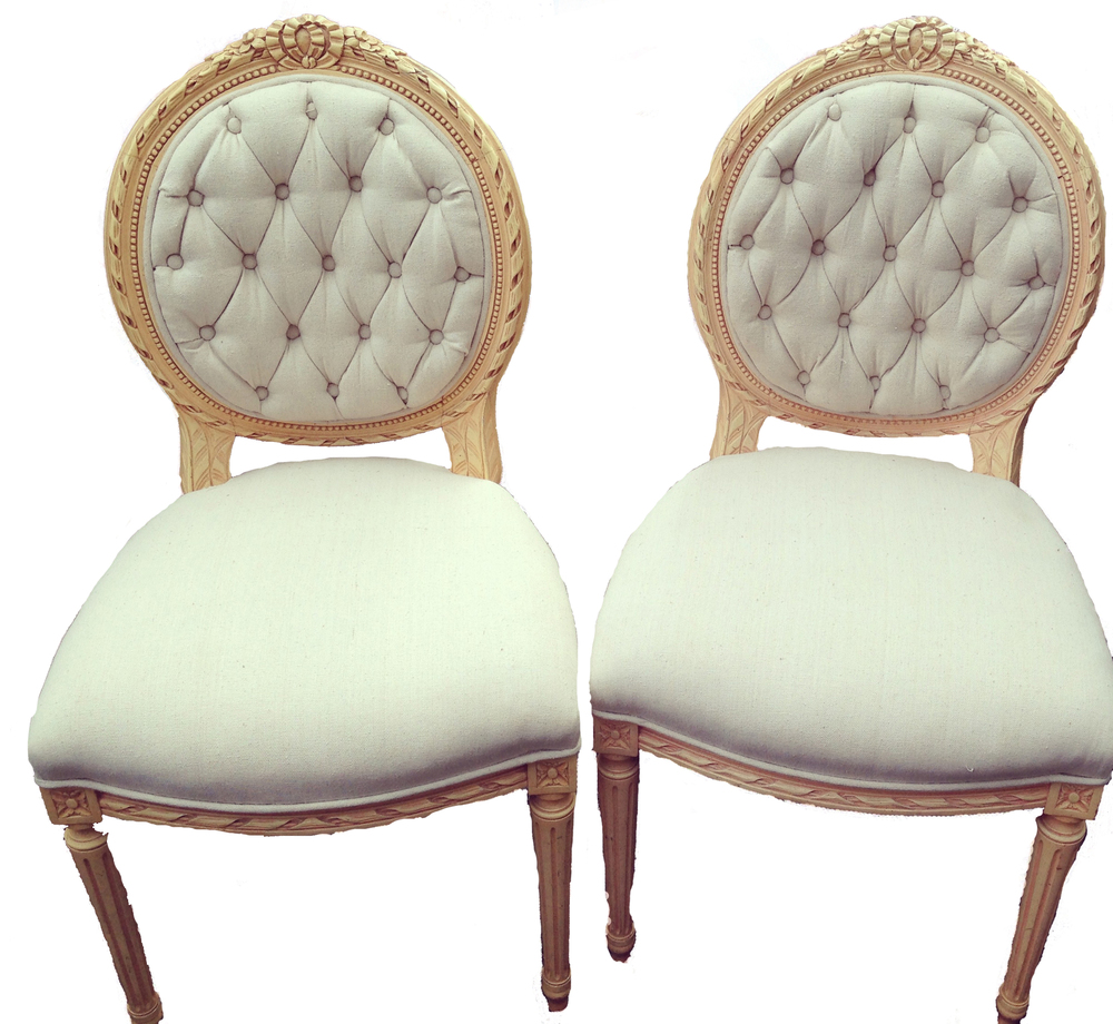 Tufted Victorian Chairs