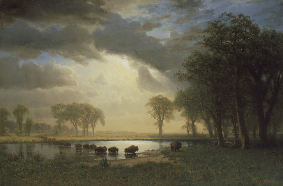 Buffalo Trail, Albert Bierstadt, 1867