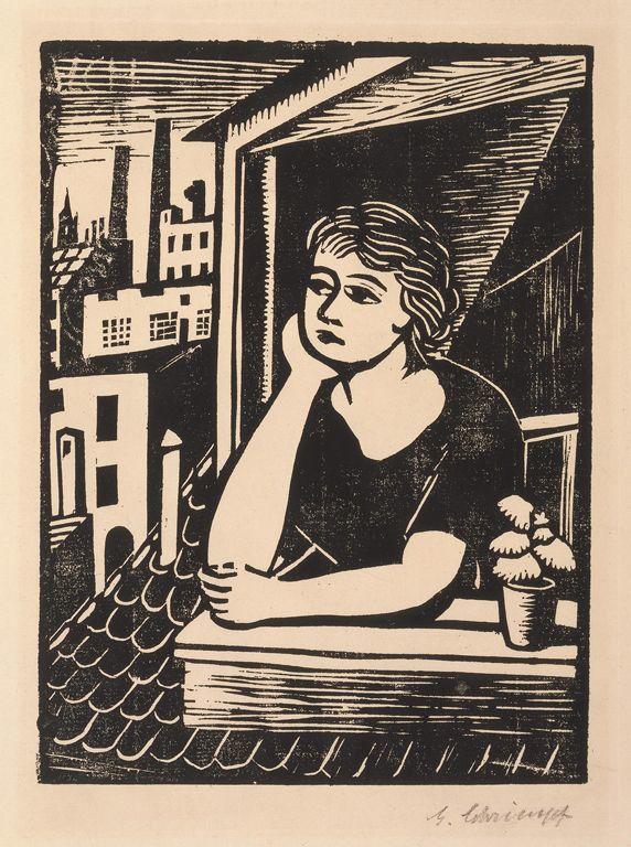 Georg Schrimpf, woodcut