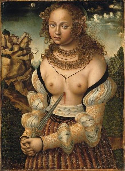 LUCAS CRANACH (1472 - 1553) - The suicide of Lucretia.