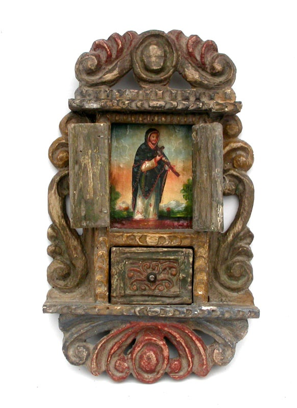 A Mexican retablo maker unknown