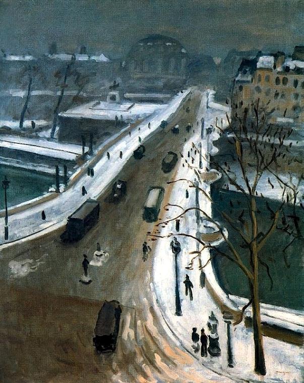Le Pont-Neuf sous la neige   Albert Marquet