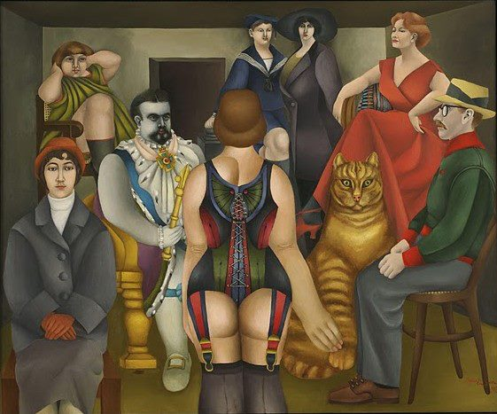 Richard Lindner (November 11, 1901 –April 16, 1978) was a German-American painter Richard Lindner was born in Hamburg. His mother Mina Lindner was American and born in New York as daughter of German parents. In 1905 the family moved to Nuremberg, where Lindners mother was owner of a custom-fitting corset business and Richard Lindner grew up and studied at the Kunstgewerbeschule (Arts and Crafts School since 1940 Academy of Fine Arts). From 1924 to 1927 he lived in Munich and studied there from 1925 at the Kunstakademie. In 1927 he moved to Berlin and stayed there until 1928, when he returned to Munich to become art director of a publishing firm. He remained there until 1933, when he was forced to flee to Paris, where he became politically engaged, sought contact with French artists and earned his living as a commercial artist. He was interned when the war broke out in 1939 and later served in the French Army. In 1941 he went to the United States and worked in New York City as an illustrator of books and magazines, making contact with New York artists and German emigrants (Albert Einstein, Marlene Dietrich, Saul Steinberg). In 1948 he became an American citizen. From 1952 he taught at the Pratt Institute, Brooklyn, from 1967 at Yale University School of Art and Architecture, New Haven. In 1957 Lindner got the William and Norma Copley Foundation-Award. In 1965 he became Guest Professor at the Akademie für Bildende Kün