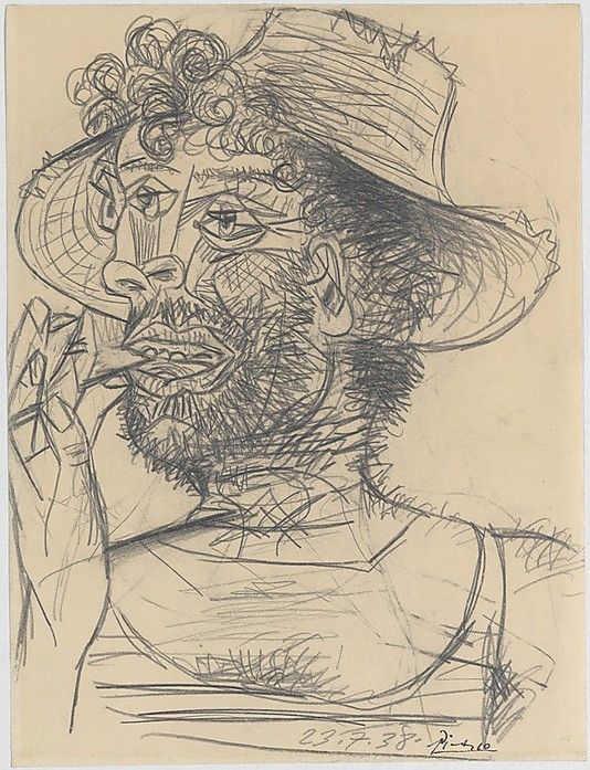 Man with Lollipop drawing by Picasso