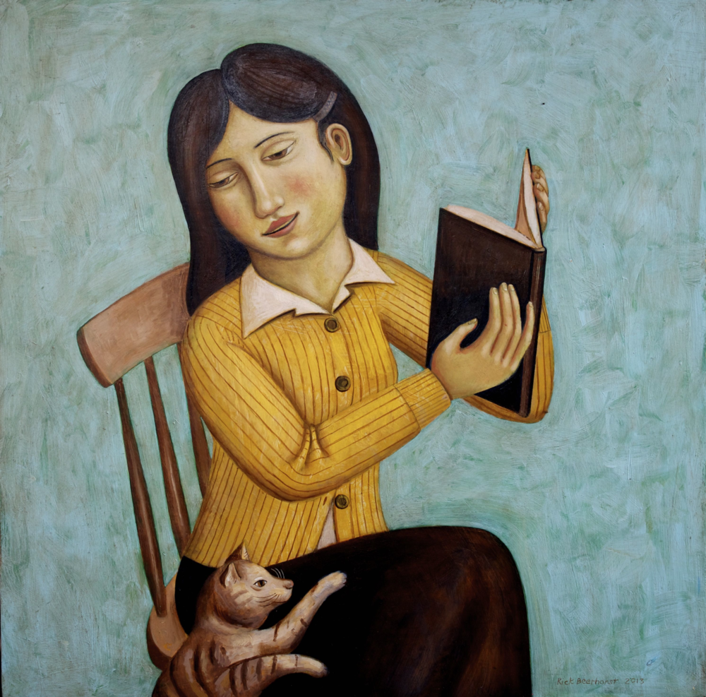 Distracted Reader #1 (SOLD)