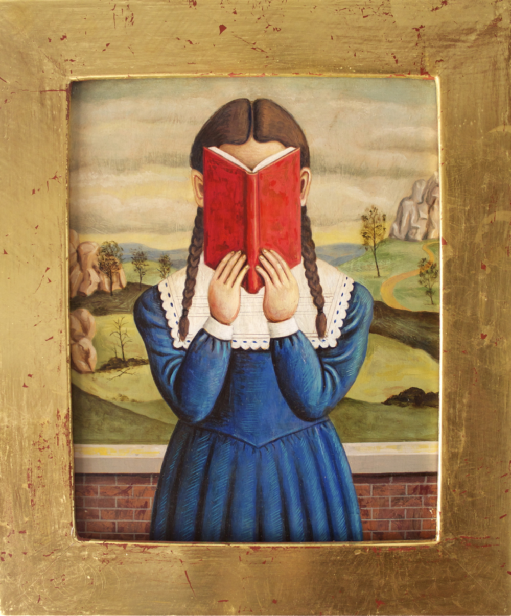 Girl with Red Book (SOLD)