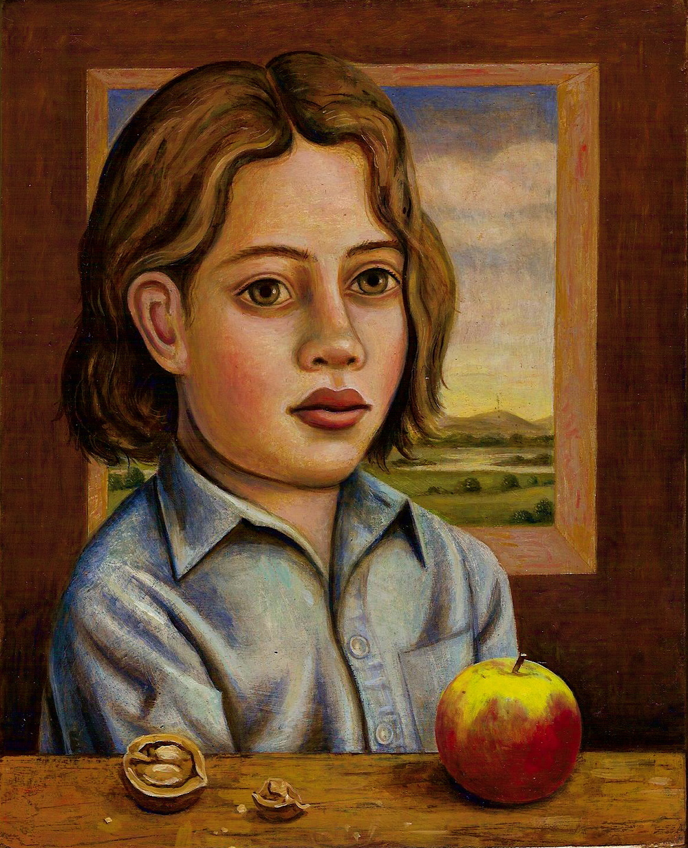Shepherd with Walnut and Apple (SOLD)