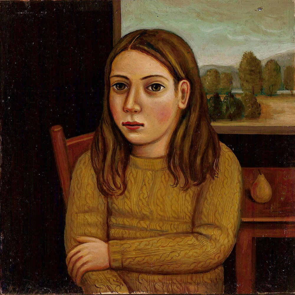 Girl with Pear (SOLD)