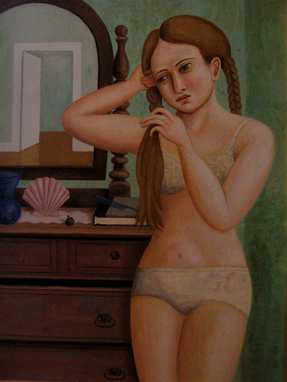 Braiding Her Hair (SOLD)
