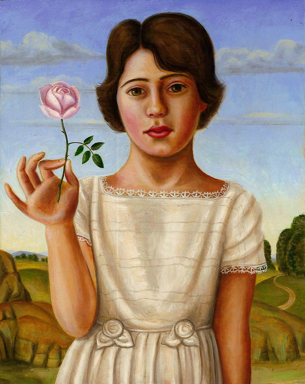 Pearl with Pink Rose (SOLD)