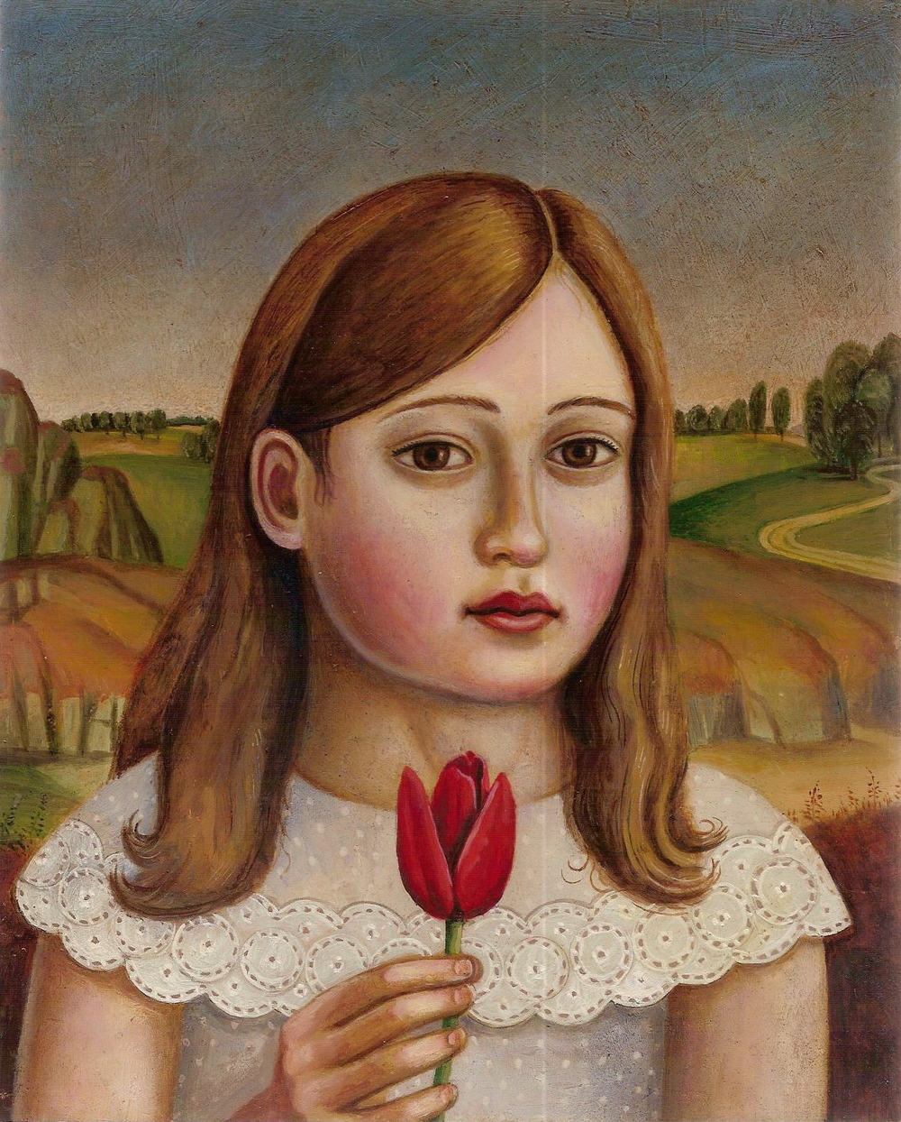 Girl with Red Tulip (SOLD)