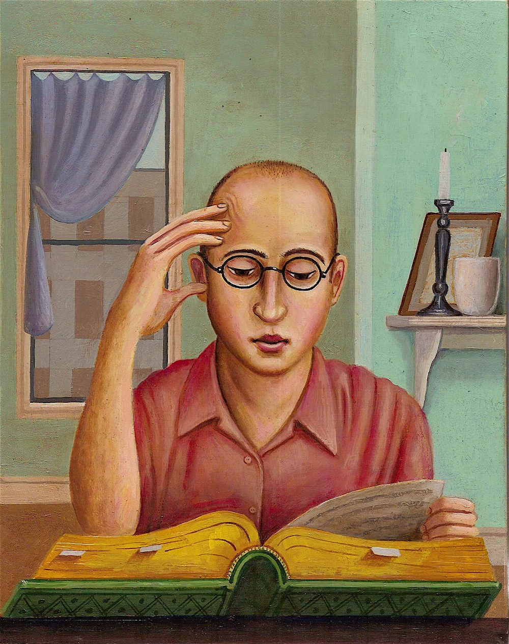Self-Portrait Reading (SOLD)