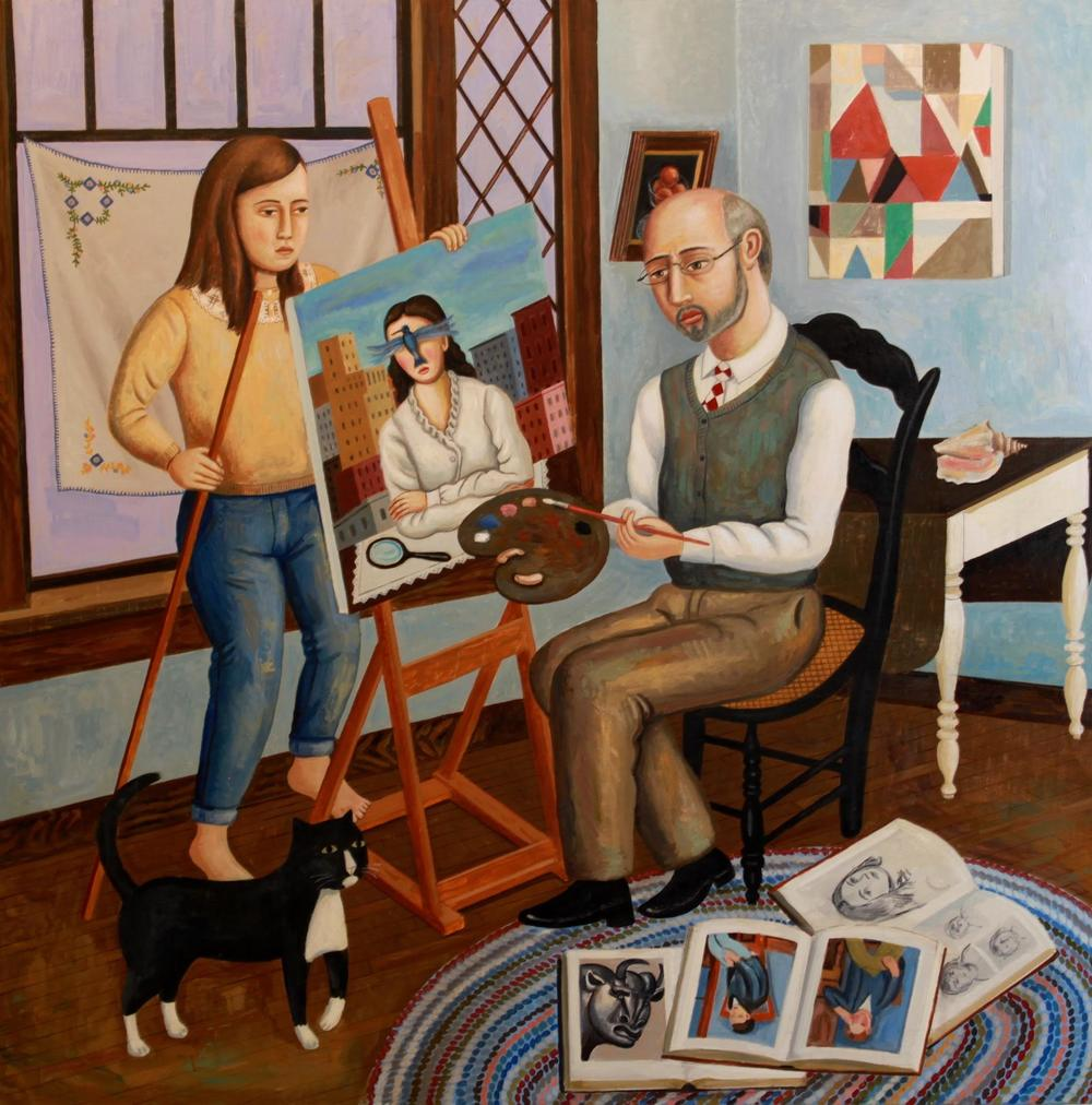 Self-Portrait with Model (SOLD)