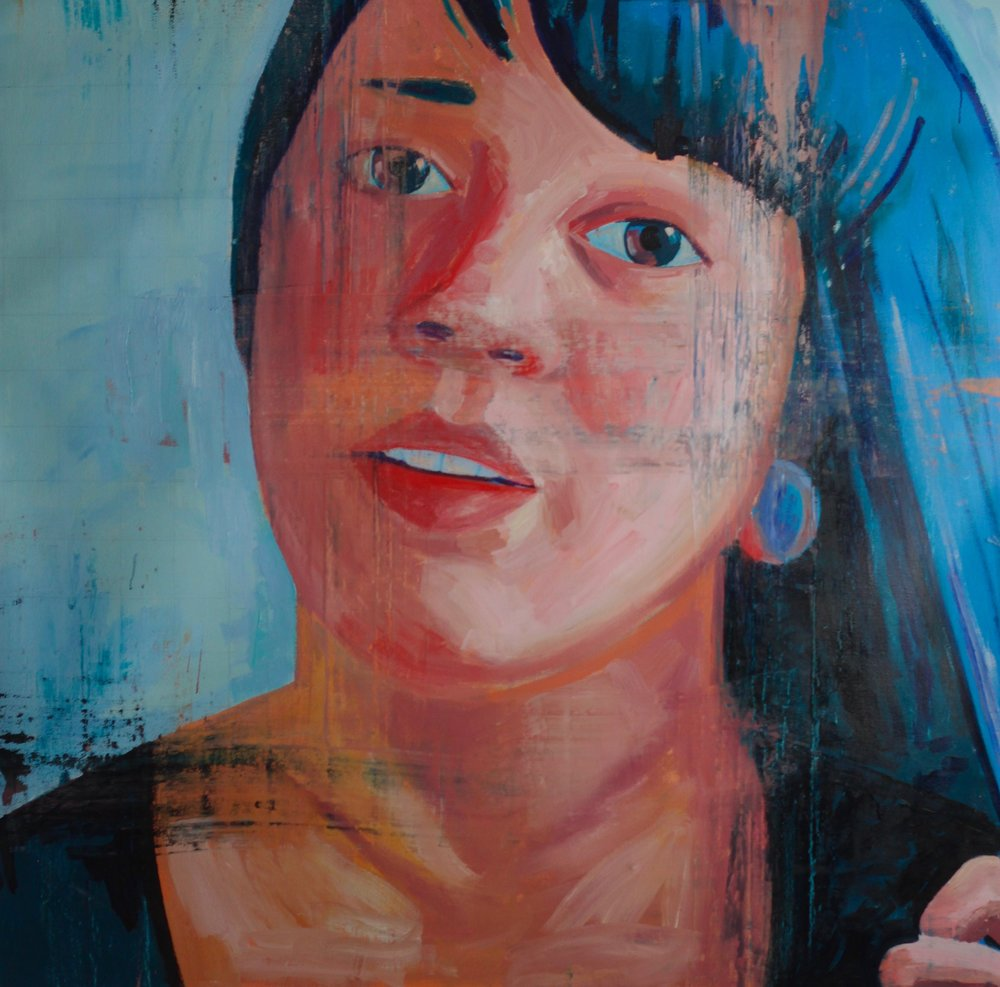 "Morgan #4, 54""x54"", oil on canvas"