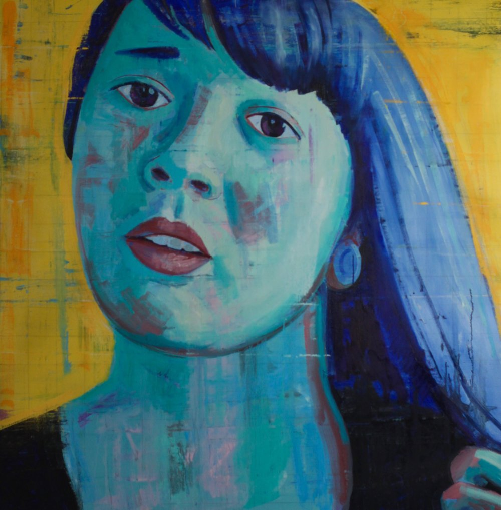 "Morgan #1, 54""x54"", oil on canvas"
