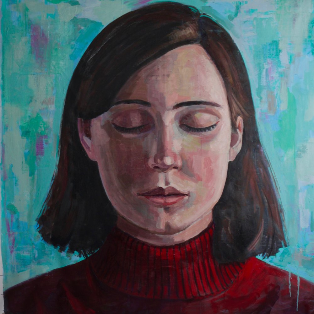 "Pearl #2, 54""x54"", oil on canvas"