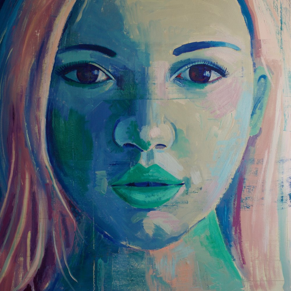 "Emily #3, 54""x54"", oil on canvas"