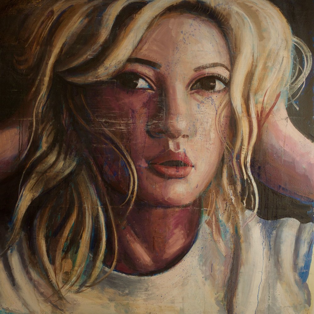 "Emily #2, 54""x54"", oil on canvas"