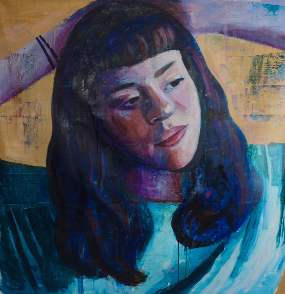 "Morgan #2, 54""x54"", oil on canvas"