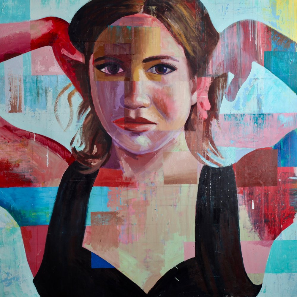 "Stephanie #6, 54""x54"", oil on canvas"