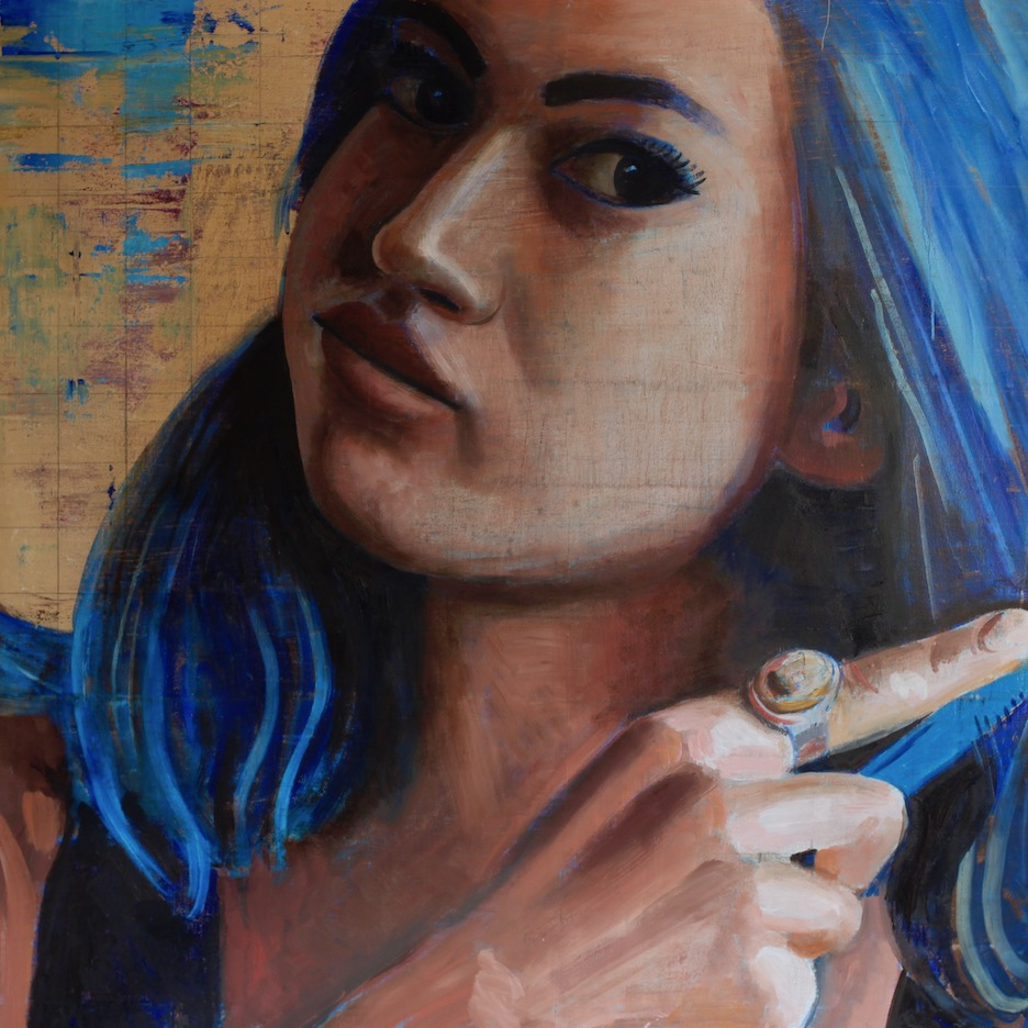 "Stephanie #3, 54""x54"", oil on canvas"