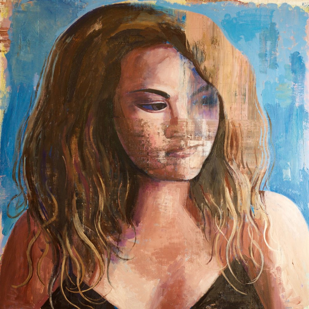 "Katie #2, 54""x54"" Oil on canvas"