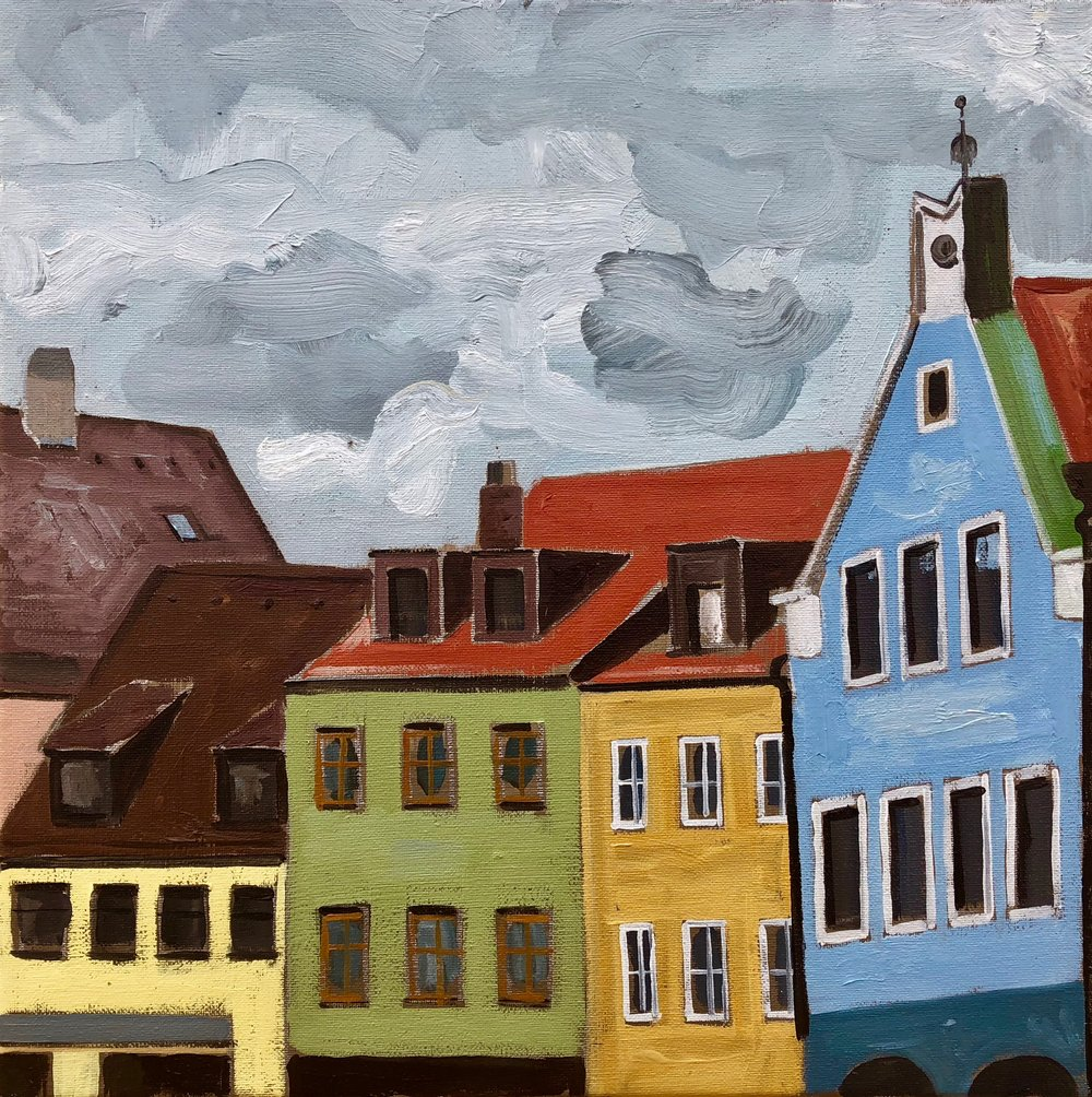 Ländgrasse Straße, 30x30cm, oil on canvas, 2018