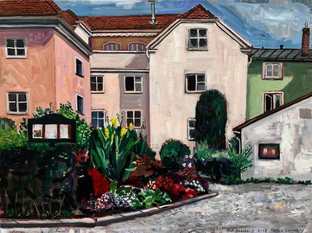 The Passau Garden, 60x40cm, oil on linen, 2018