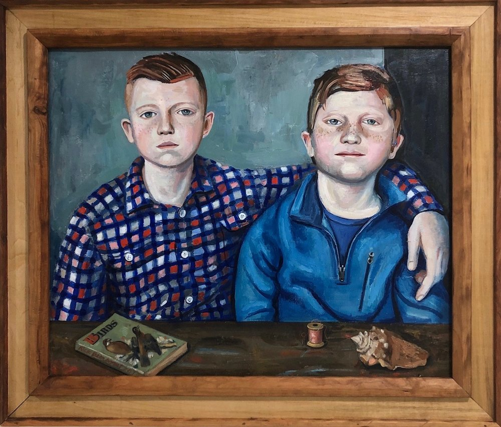 young boys double portrait by Rick Beerhorst