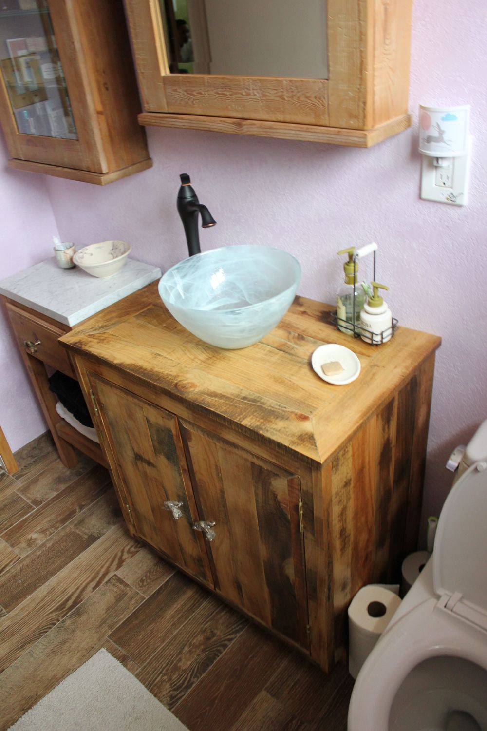 Bathroom Vanity Reclaimed Wood Los Angeles Barnwood Hardwood - Bathroom vanity stores in los angeles