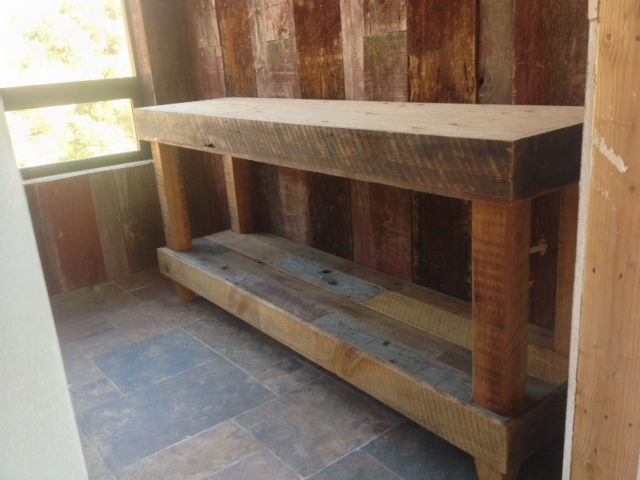 Bathroom vanity reclaimed wood los angeles barnwood for Reclaimed wood flooring los angeles