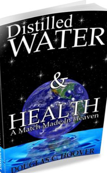 Distilled Water & Health - Hoover   Easy to read, dispelling all the myths of Distilled Water and providing the truth of water systems. Pure water is the essence of all life. To use distilled water is to take the first step to healthy living.  Let's get a few of the myths out of the way: Distilled water is pure water. Rain water & the water of fruits are distilled waters. Minerals the body needs come from food, not from water. Water is used to replace our bodily fluids & clean our bodies. The PH of food & water does not affect the body's PH, lack of proper levels of vitamins & organic minerals do. Inorganic minerals, coming from spring, bottled & tap water attach themselves to the body and build up over time. Distilled water attaches to INORGANIC minerals and breaks down build up.   Learn more about Distilled Water thanks to Andrew Norton Webber