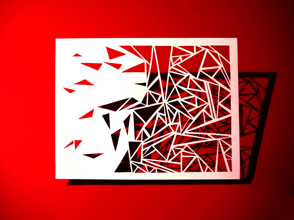 "Papercut in Cotton Stock, 8.5"" x 11"""