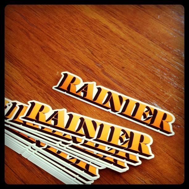 RAINIER sticker preview (Taken with  instagram )