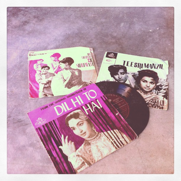 Bollywood 45s (Taken with instagram)
