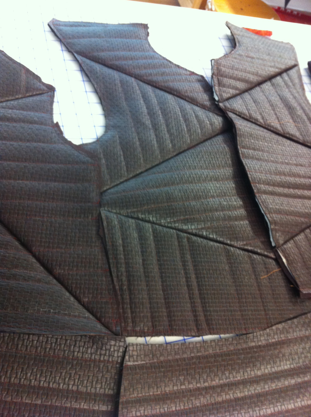 Petruchio's Jacket. (Process Photo)  The Taming of the Shrew.