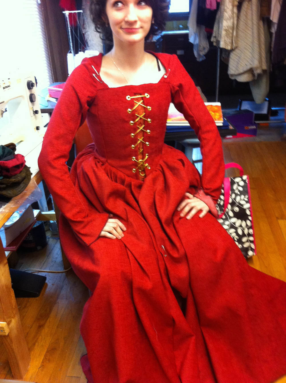 Kate fitting photo.  The Taming of the Shrew  George Fox University