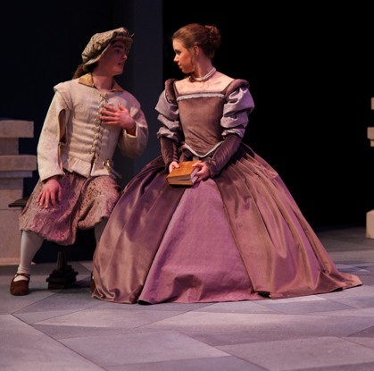 Bianca Gown  The Taming of the Shrew   George Fox University  Gown designed and made by Allison Dawe