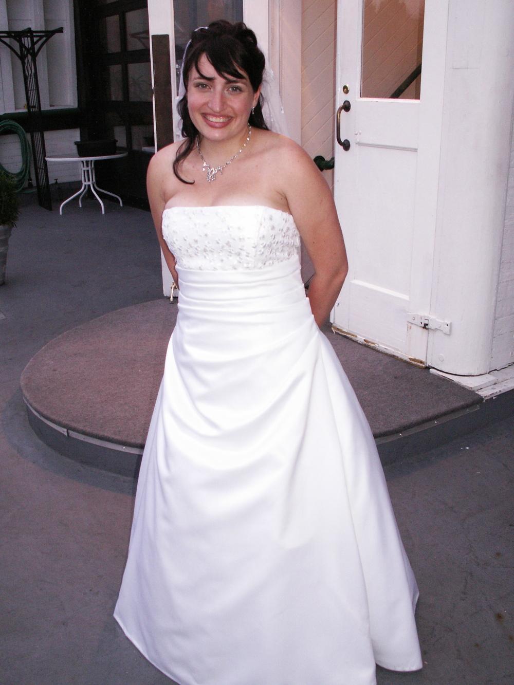 Liz's Wedding Dress  Made by Allison Dawe