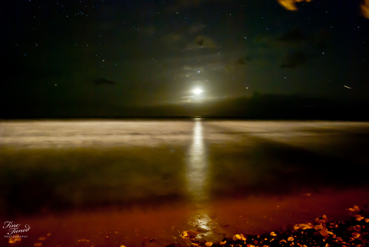 Long exposure on a beach in Maui, Hawaii