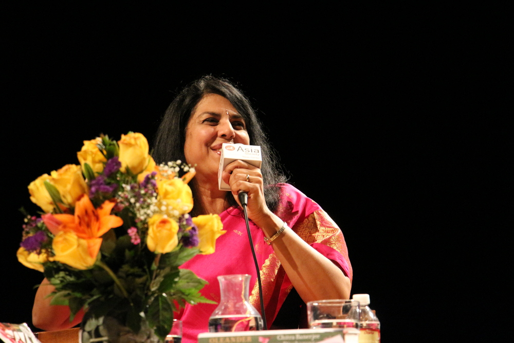 Chitra Banerjee Divakaruni Discussing Oleander Girl at Asia Society Texas Center 3-7-13 Photo Credit SLMotley.JPG